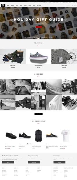 DC Shoes英文设计网站案例,中文网站设计案例,网站设计英文案例