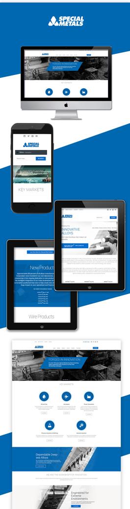 漂亮的英文网站设计公司案例,Special Metals建设英文网站案例
