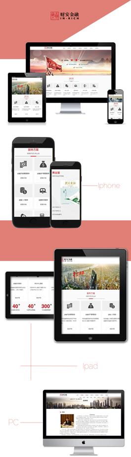 新颖的金融网站建设公司案例,财安金融网站设计案例