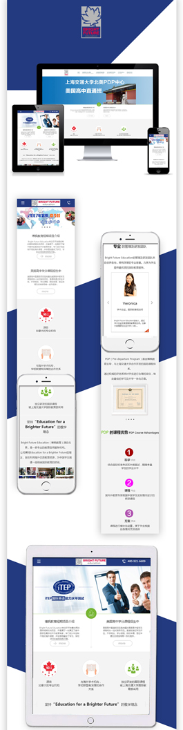 精美的教育培训网站设计作品,Bright Future Education教育网站建设案例