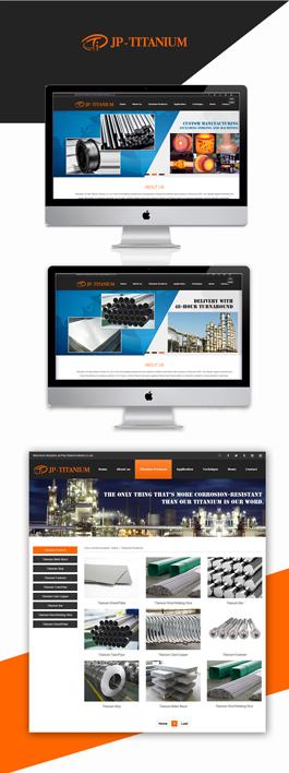 优秀的英文网页设计欣赏,Jia Ping Titanium英文网页制作案例